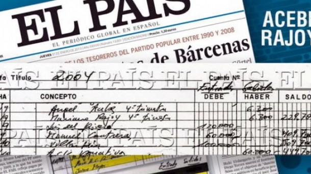 El Pais published images of excerpts of handwritten accounts maintained by PP treasurers