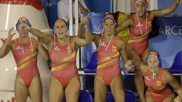 Espa a waterpolo las chicas de miki oca ganan el oro en - Las chicas de oro espana ...