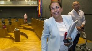 Uxue Barkos Nafarroako Gobernuko presidentea. EFE