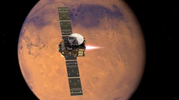 La nave ExoMars, sobre Marte. EFE