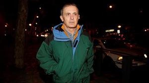 Jordi Pujol Ferrusola Auzitegi Nazionalean, Soto del Realeko espetxetik atera ondoren. Argazkia: EFE