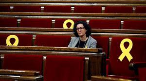 Marta Rovira Kataluniako Parlamentuan. Artxiboko argazkia: EFE