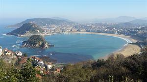 Vista de la playa de La Concha. Foto: Eduardo Urrestarazu.
