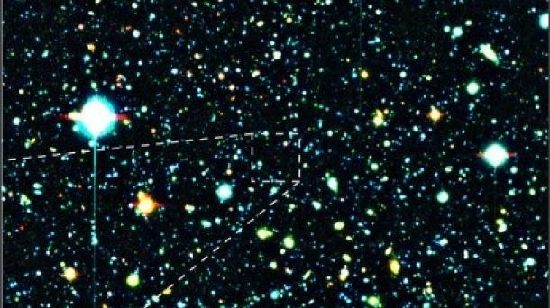 Imagen de la nueva galaxia descubierta. Foto: Astrophysical Journal