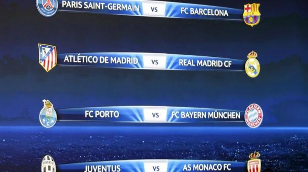 Sorteo de Liga de Campeones 2015: emparejamientos de cuartos de ...