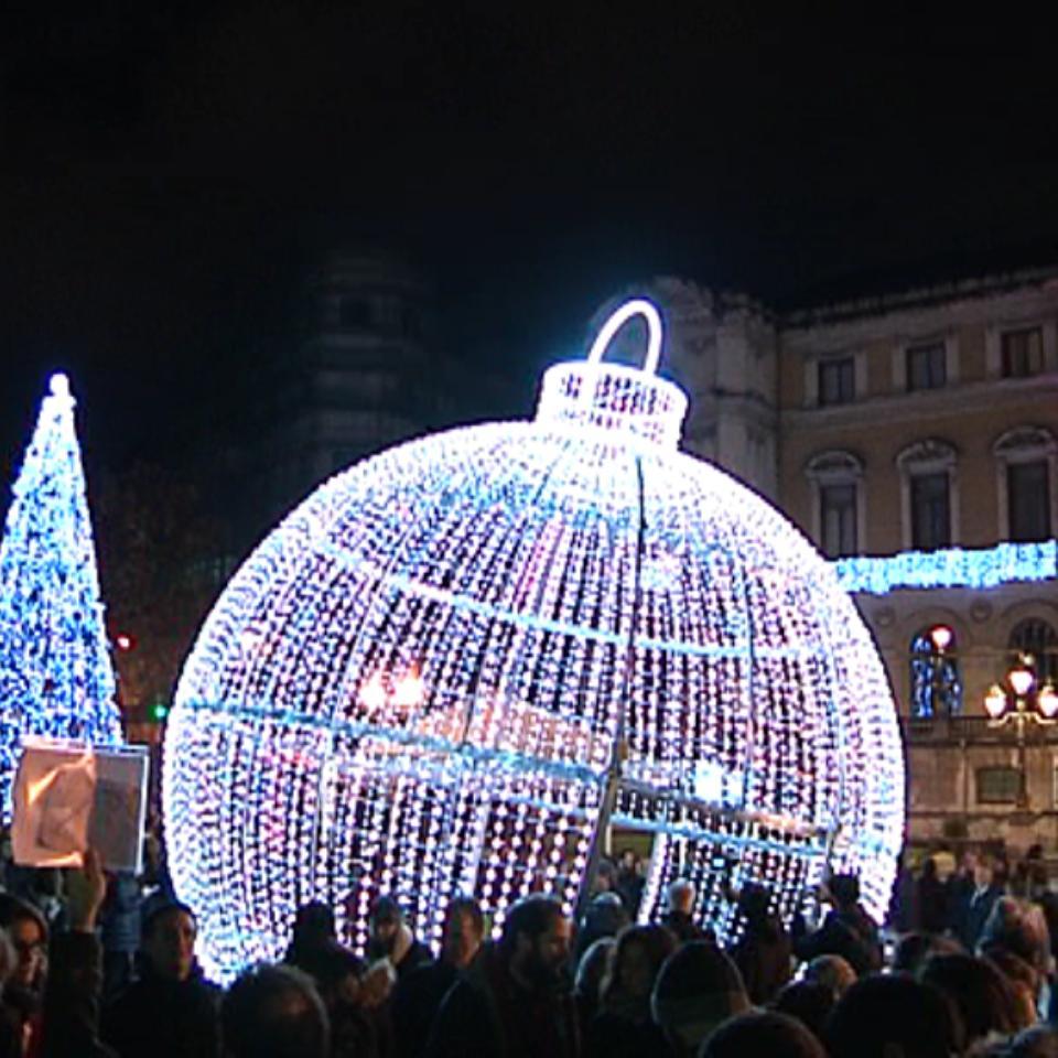 995de323344 Vídeo  Encendido de luces navideñas en Bilbao el 29 de noviembre de 2017