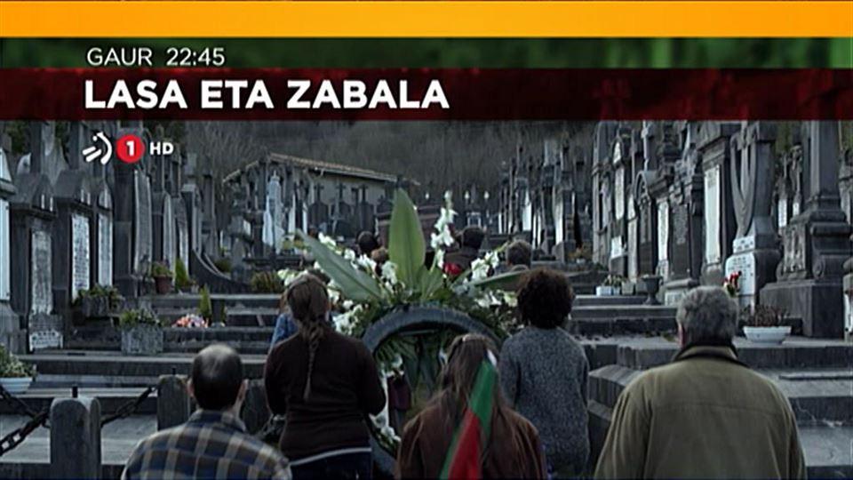 Bideoa: 'Lasa eta Zabala' filma, astelehenean, ETB1en