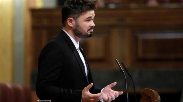 [XIII Legislatura] Debate de investidura de Pedro Sánchez. 20180313222235_gabriel-rufian-kongresua-_foto610x342