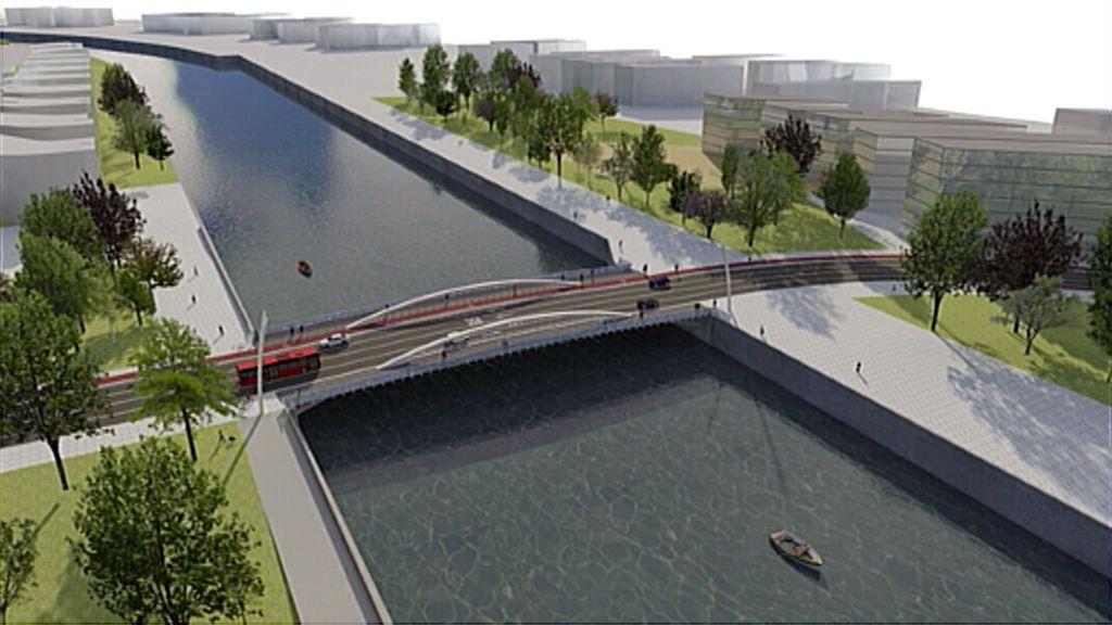 Así será el puente que unirá el barrio de San Ignacio con Zorrozaurre en  Bilbao | Pueblos y Ciudades | EiTB