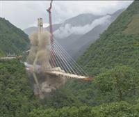 Demolido en Colombia un puente en cuya construcción murieron 9 trabajadores