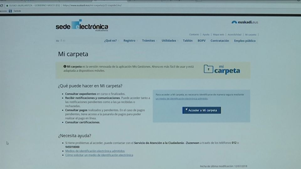 VdeoAs Funcionar Mi Carpeta El Portal Vasco Para Realizar Trmites Online