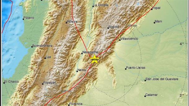 Un terremoto de 5,2 grados sacude Colombia