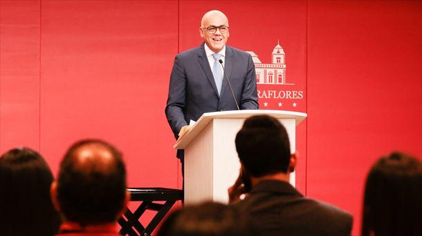 Jorge Rodríguez, el ministro de Comunicación de Venezuela. Foto: EFE