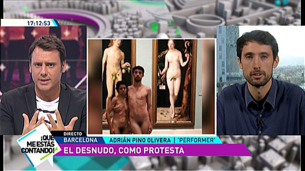 Ana Alonso Desnuda vídeo: adrián pino olivera, sobre performance desnudo en