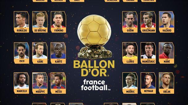 b4ef7b33fd695 Balón de Oro 2018  Listado 30 candidatos a ganar el galardón de ...