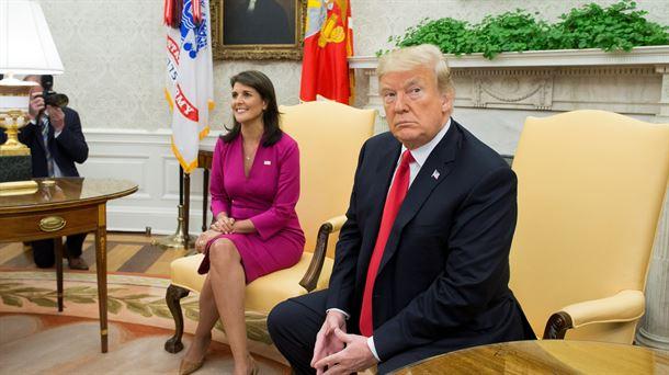 Nikki Haley y Donald Trump. Foto: EFE
