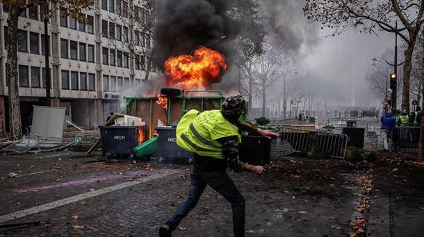 Altercados en París, el pasado 1 de diciembre.
