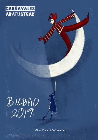 CONCURSO DE CARTELES DE CARNAVALES de BILBAO 2019 BILBO INAUTERIETAKO KARTEL LEHIAKETA