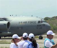 Llega a Colombia el primer avión militar de EE.UU. con ayuda para Venezuela