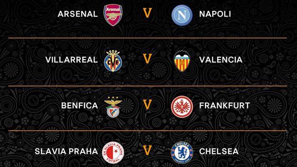 Resultados del sorteo de cuartos de final de la Europa League 2018 ...