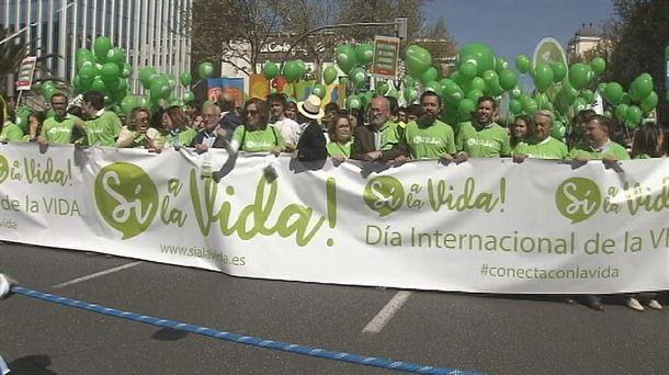 Image result for madrid manifestacion 25 de marzo de 2019 provida