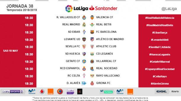 color rápido compras precio oficial LaLiga Santander 2018-2019: Fechas y horarios de los ...