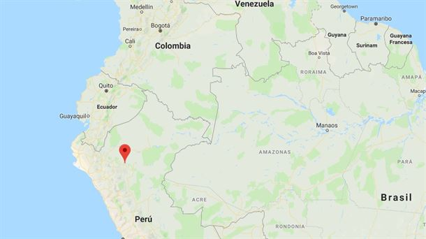 Epicentro del terremoto en Perú