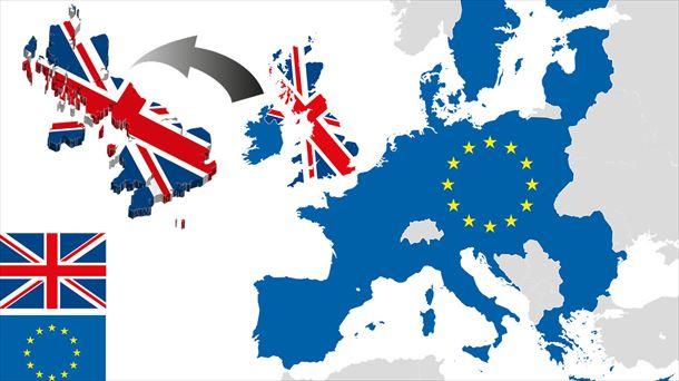 Un mapa escenifica la salida de Reino Unido de la UE