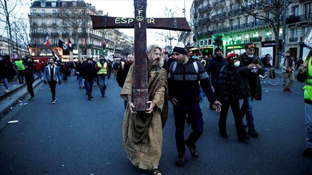 Protesta en París. Foto: EFE