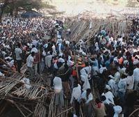 Al menos diez muertos en Etiopía en el derrumbe de una grada en una fiesta religiosa