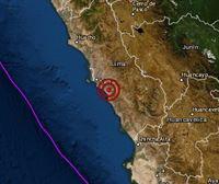 Registrado un terremoto de magnitud 3,7 en Perú