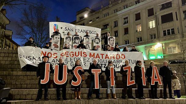 La manifestación ha finalizado en la Plaza de los Fueros de Vitoria-Gasteiz