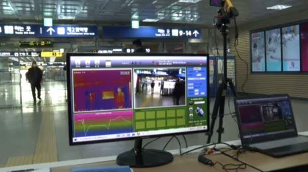 Ordenadores que controlan la temperatura corporal en Corea del Sur