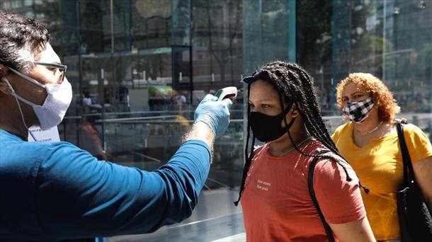Toma de temperatura en Nueva York