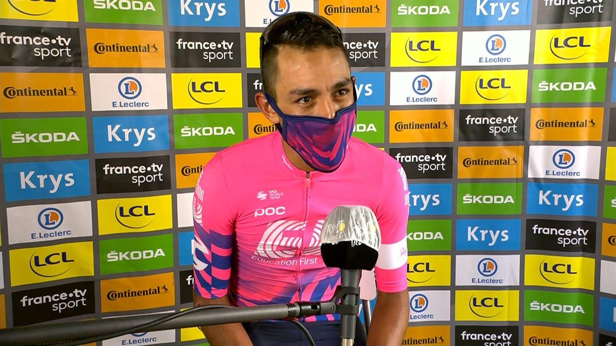 Vídeo: Declaraciones de Daniel Felipe Martínez tras ganar la etapa 13 del  Tour | Ciclismo | EiTB