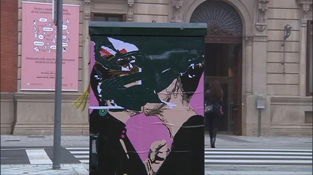 Video: dos policías provinciales rompen el graffiti de LKN |  Sociedad