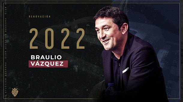 Braulio Vázquez renueva como director deportivo de Osasuna hasta 2022    Fútbol americano