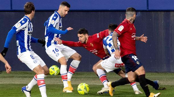 Crónica del Osasuna-Alaves de LaLiga Santander 20/21: Empate en El Sadar 1-1 |  Fútbol americano