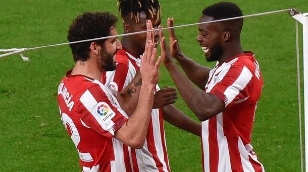 Raul Garcia, Nico Williams eta Iñaki Williams
